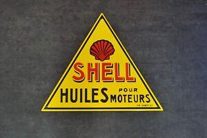Plaque émaillée Shell huile moteur  enamel sign emailschild