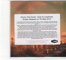(FB731) Emmy The Great, God Of Loneliness - 2012 DJ CD