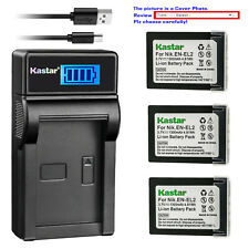 Kastar Battery LCD USB Charger for Nikon EN-EL2 MH-60 Nikon Coolpix 2500 Camera