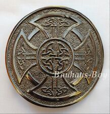 Kilt boucle de ceinture croix celtique Knotwork circulaire antiqué finition Highland kilts