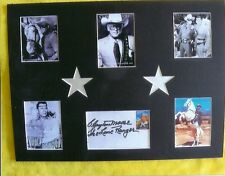 The Lone Ranger Clayton Moore Original Signed Collage With Tonto And Silver