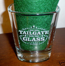 "Jack Daniel's ""Drop your Tailgate, Raise your Glass"" Heavy Square Bottom Glass"
