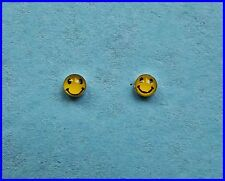 Pair Of Sterling Silver  925  Smiley Face Nose Studs  !!        Brand  New  !!