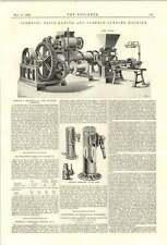 1894 Johnson brickmaking superficie levigatura MACCHINA NORTON composto BINDA