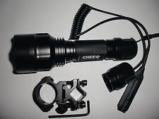Long Throw CREE Q5 1-Mode Flashlight Hunter defender Torch for Shotgun/Rifle 6P