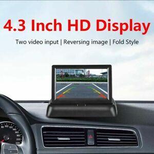 "Folding 4.3"" LCD Rear View Monitor Display For Car Van Reverse Backup Camera Kit"