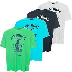 Kitaro T Shirt Herren Kurzarm Rundhals Baumwolle Plusgröße Übergröße