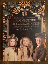 Ladenburger Spielzeugauktion Katalog 2021März Puppen Eisenbahn Elastolin Märklin