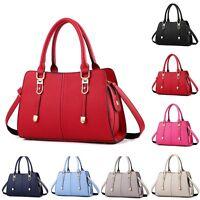 New Women PU Leather Handbag Shoulder Bag Tote Purse Lady Messenger Hobo Satchel