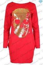 Vestiti da donna in cotone rosso taglia L