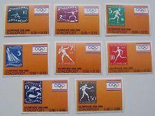 Stadspost - Serie 8 zegels Olympische Spelen, Olympics Amsterdam 1928-1988 onget