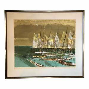 "1970 ""Yesterdays Canneries"" Mid Century Serigraph by Artist Howard Bradford"