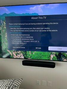 """Samsung QN75Q60TA 75"""" 4K QLED Smart TV - Titan Black MINT! MINT!"""