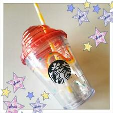 Starbucks Japan 2018 Tumbler Cold Cup Whip lid 355ml Orange F/S