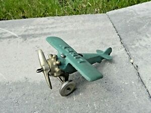 Cast Iron LINDY Toy Airplane Hubley?