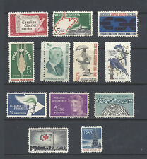 U.S. 1963 Commemorative Year Set 12 MNH Stamps