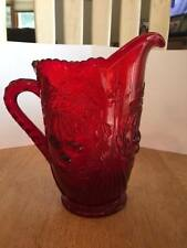 Ruby Red Pitcher with Cherries on it.cute