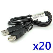 20 Pcs 60cm USB Macho a Hembra una extensión extender los datos M/F Adaptador Cable RoHS