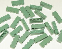 LEGO LOT OF 25 NEW SAND GREEN 1 X 4 BRICKS BUILDING BLOCKS PIECES