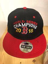 Boston Red Sox World Series Champions 2018 Baseball Hat Snapback Black/red