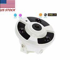 HD 1080P CCTV wired 2.0MP AHD camera 360 degree fisheye Night Vision dome +OSD