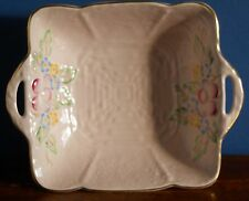 A Vintage Crown Devon squared dish in pink