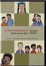 El Sexo Puede Esperar Hable Con Sus Hijos DVD Spanish Family Education Guide