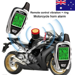 Anti-Theft Motorcycle Motorbike Start Security Alarm System 2 Way Remote Control