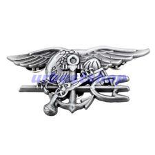US NAVY SEAL EAGLE ANCHOR TRIDENT METAL BADGE INSIGNIA Special Warfare Black