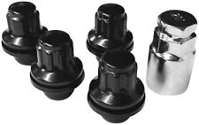 Original APT Felgenschlösser Felgenschloss schwarz 4er Set 4x M12x1,5 Flachbund