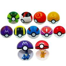 9 Pokemon Pokeball Pop-up 7cm Cartoon Plastic Ball Pikachu Monster Kids Toy Gift