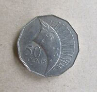 AUSTRALIAN DECIMAL...2000 MILLENNIUM YEAR.....50 CENT COIN..INCUSED FLAG ERROR