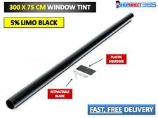 PRO LIMO BLACK 5% CAR WINDOW TINT ROLL 3M x 75CM FILM TINTING KIT 20-37