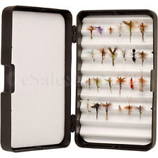 24  Assorted Trout Dry Fly FIshing Flies Ants Parachute Nymph Goodard Wulff Gnat