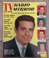TV RADIO MIRROR JUNE 1958 GEORGE DE WITT TONY PERKINS PAUL ANKA