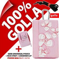 New Golla Pink Phone Case Cover Pouch Bag + Zipped Pocket for iPhone 3GS 4 4S