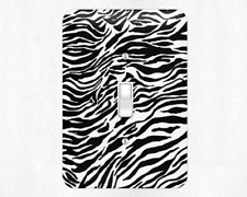 Neat Zebra Style Metal Switch Light Covers, rocker switch covers, outlet covers