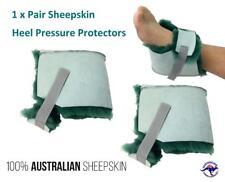 Heel Protector Medical Foot 2 x Pressure Pad Ulcer Sheepskin Wool Boot Cushion