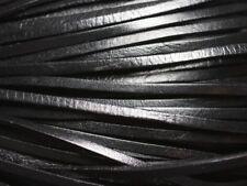 4 mètres - Cordon Lanière Cuir Noir Véritable 3mm   4558550019578