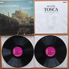 RCA VICS 6000 Puccini Tosca Milanov Bjoerling Leinsdorf Rome Opera 2xLP VG/EX