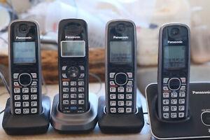5 x Panasoinc phone set: KX-TGA939T, 2 line cordless, KX-TG9471, 3 x KX-TGA410C