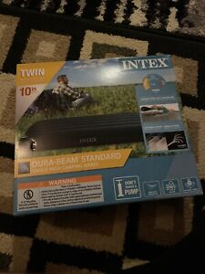 Intex Twin Standard Durabeam Standard Airbed 10 inch Height Camping Air Mattress