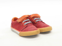 Clarks Boys UK Size 4.5 Red Infant Plimsolls