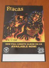 Fracas On Trial Poster Original Promo Tour 17x11 Punk Band RARE