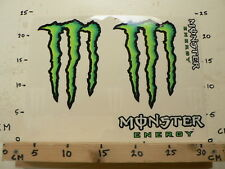 STICKER,DECAL MONSTER ENERGY SHEET 4 STICKERS BIG SIZE MOTO ? A
