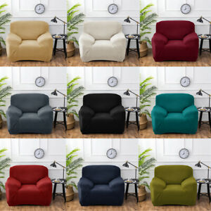 1234 Seater Universal Stretch Elastic Sofa Covers Knitted Couch Slipcover Solid