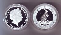 2003 SILVER Proof $10 Kangaroo Coin Port Phillip ex Masterpieces in Set -