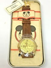 Disney Mickey Mouse Men's Watch Gold Face NIB