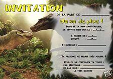5 ou 12 cartes invitation anniversaire DINOSAURE réf 306
