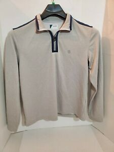 IZOD Golf Mens Small Light Pull Over Jacket Long Sleeve Zip Up Collar Sports Cas